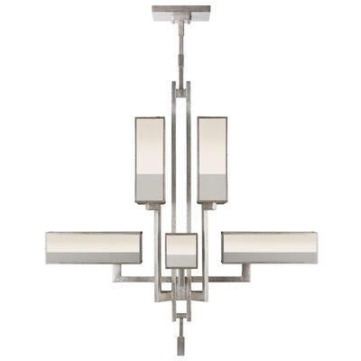Perspectives 8-Light Candle-Style Chandelier Finish: Silver