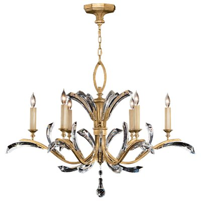 Beveled Arcs 6-Light Candle-Style Chandelier Finish: Gold