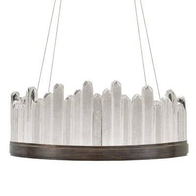 Lior Rock 20-Light Crystal Pendant Finish: Bronze, Size: 13.5 H x 30.5 W x 30.5 D