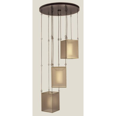 Quadralli 3-Light Drop Pendant