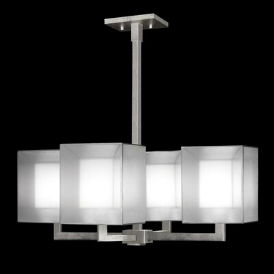 Quadralli 4-Light Shaded Chandelier