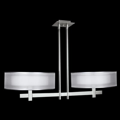 6-Light Semi Flush Mount Finish: Silver Leaf