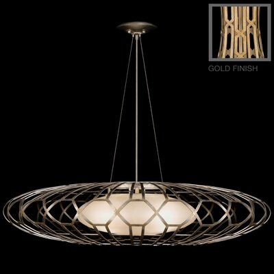 Allegretto 3-Light Pendant Finish: Burnished Gold Leaf