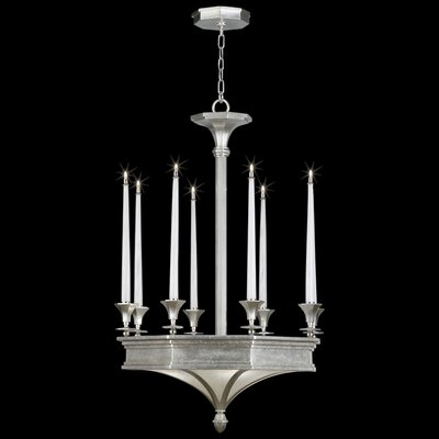 Candlelight 21st Century 8-Light Candle-Style Chandelier Finish: Silver