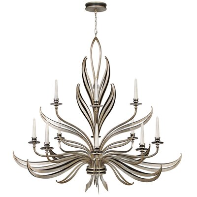 Villandry 12-Light Candle-Style Chandelier Finish: Antique Silver Leaf