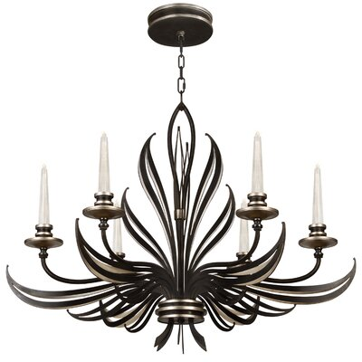 Villandry 6-Light Candle-Style Chandelier Finish: Black