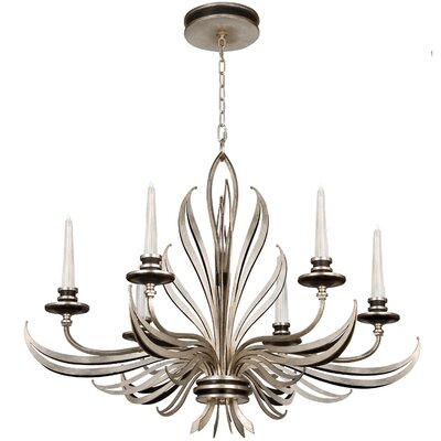 Villandry 6-Light Candle-Style Chandelier Finish: Silver