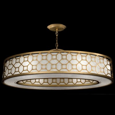 Allegretto 6-Light Drum Pendant Finish: Burnished Gold Leaf