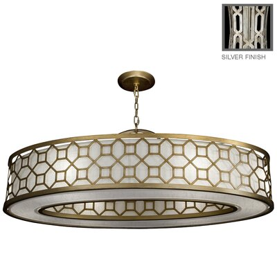Allegretto 6-Light Drum Pendant Finish: Platinized Silver Leaf
