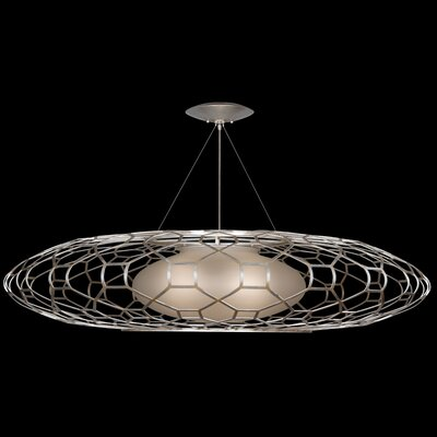 Allegretto 3-Light Geometric Pendant Finish: Platinized Silver