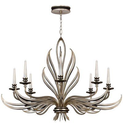Villandry 8-Light Candle-Style Chandelier Finish: Antique Silver Leaf