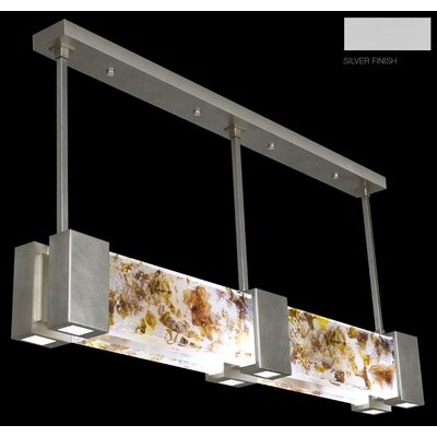 Crystal Bakehouse 6-Light Kitchen Island Pendant Finish: Silver, Shade Color: Carnelian and Citrine