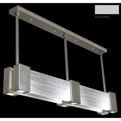 Crystal Bakehouse 6-Light Kitchen Island Pendant Finish: Silver, Shade Color: Clear