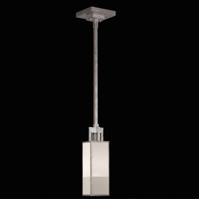 Perspectives 1 Light Drop Pendant Finish: Muted Silver Leaf