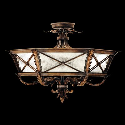 Newport Round Semi Flush Ceiling Lighting