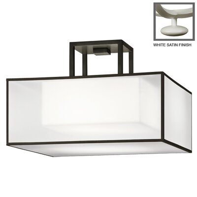 Black + White Story 2-Light Semi-Flush Mount Finish: Studio White Satin