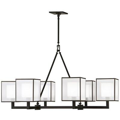 Quadralli 6-Light Candle-Style Chandelier Finish: Black Satin