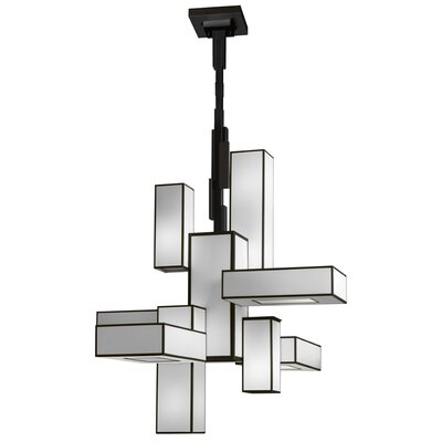 Monterey 12-Light Candle-Style Chandelier Finish: Black Satin