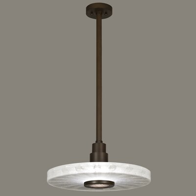 Crystal Bakehouse 1-Light Drum Pendant Finish: Bronze, Shade Color: Clear
