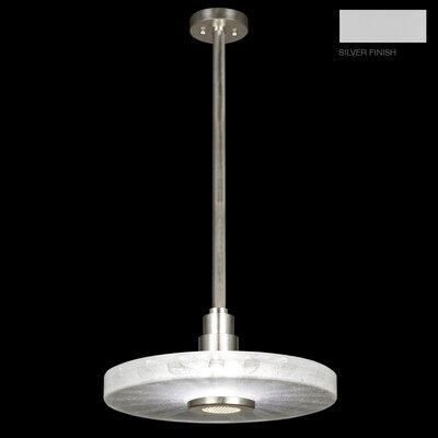 Crystal Bakehouse 1-Light Drum Pendant Finish: Silver, Shade Color: Clear