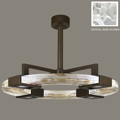 Crystal Bakehouse 4-Light Pendant Finish: Bronze