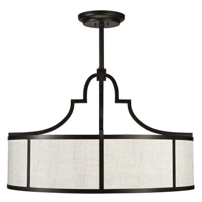 Black + White Story 8-Light Drum Pendant Finish: Black Satin