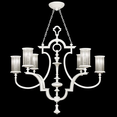 6-Light Candle-Style Chandelier Finish: Studio White Satin