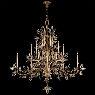 Laurel Gold 20-Light Candle-Style Chandelier