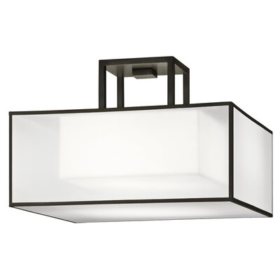 2-Light Semi Flush Mount Finish: Black Satin