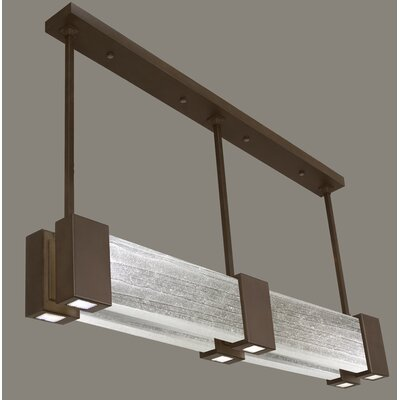 Crystal Bakehouse 6-Light Kitchen Island Pendant Finish: Bronze, Shade Color: Clear