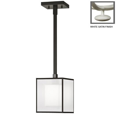 Black + White Story 1-Light Mini Pendant Finish: Studio White Satin