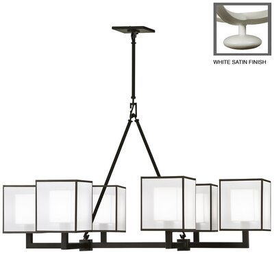 Quadralli 6-Light Candle-Style Chandelier Finish: Studio White Satin