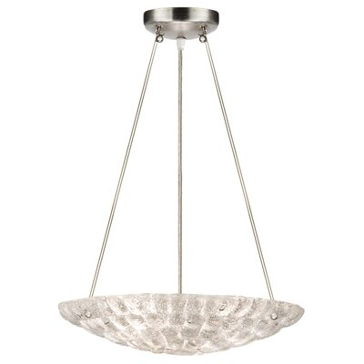 Constructivism 3-Light Inverted Pendant Finish: Silver, Shade Color: Moonlit Mist