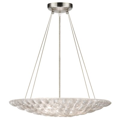 Constructivism 3-Light Bowl Pendant Finish: Silver, Shade Color: Moonlit Mist