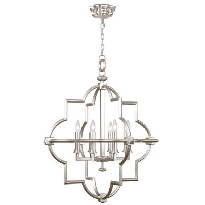 Liaison 8-Light Foyer Pendant Finish: Platinized Silver