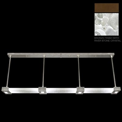 Crystal Bakehouse 4-Light Kitchen Island Pendant Finish: Bronze