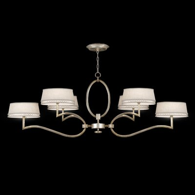 Allegretto 6-Light Shaded Chandelier Finish: Silver