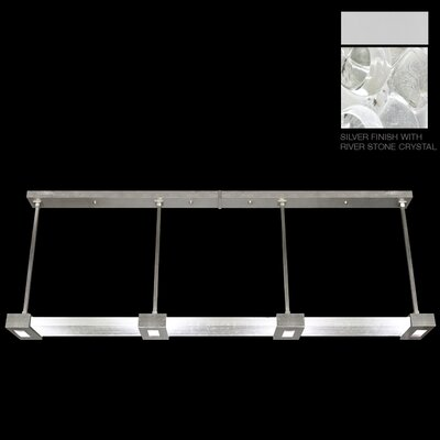 Crystal Bakehouse 4-Light Kitchen Island Pendant Finish: Silver