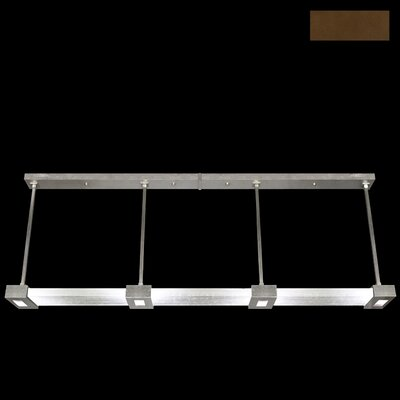 Crystal Bakehouse 4-Light Kitchen Island Pendant Finish: Bronze, Shade Color: Clear
