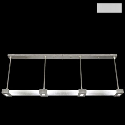 Crystal Bakehouse 4-Light Kitchen Island Pendant Finish: Silver, Shade Color: Clear