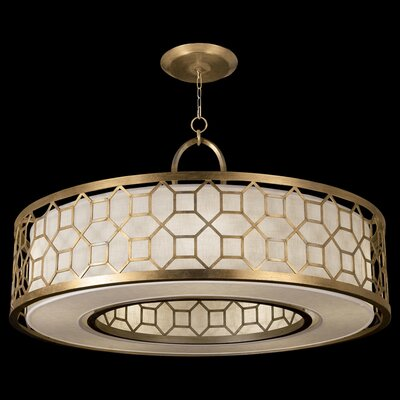 Allegretto 5-Light Drum Pendant Finish: Burnished Gold Leaf