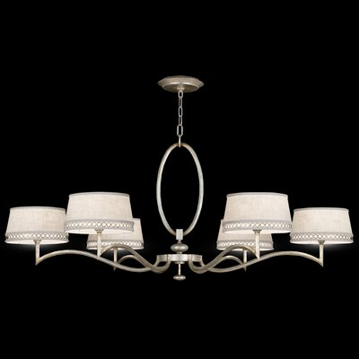 Allegretto Gold 6-Light Shaded Chandelier