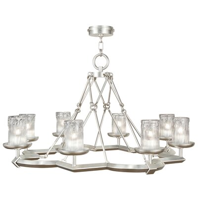 Liaison 8-Light Candle-Style Chandelier Finish: Platinized Silver