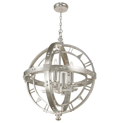 Liaison 4-Light Globe Pendant Finish: Platinized Silver