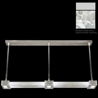 Crystal Bakehouse 3-Light Kitchen Island Pendant Finish: Silver