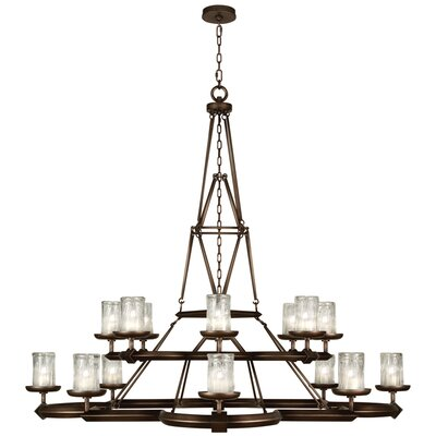 Liaison 16-Light Candle-Style Chandelier Finish: Antique Bronze