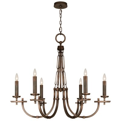 Liaison 6-Light Candle-Style Chandelier Finish: Antique Bronze
