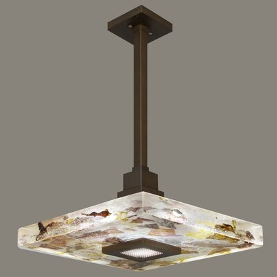 Crystal Bakehouse 1-Light Mini Pendant Shade Color: Carnelian and Citrine