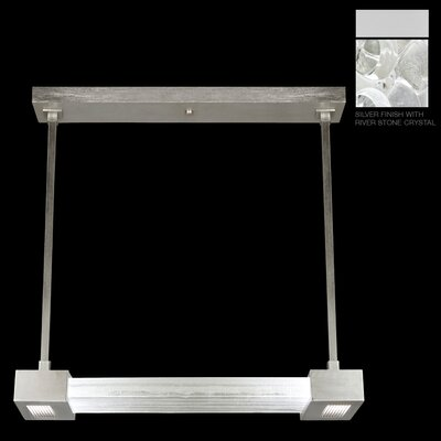 Crystal Bakehouse 2-Light Kitchen Island Pendant Finish: Silver