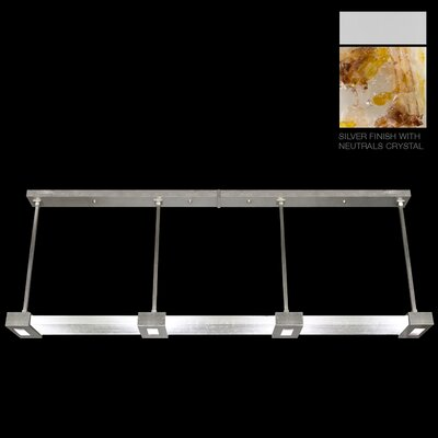 Crystal Bakehouse 4-Light Kitchen Island Pendant Finish: Silver, Shade Color: Carnelian and Citrine